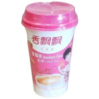 Instatnt Milk Tea Stawberry (3-Cups) 香飘飘草莓味奶茶